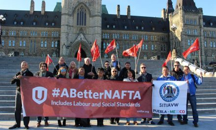 Unifor and Mexican labour leaders join in NAFTA lobby