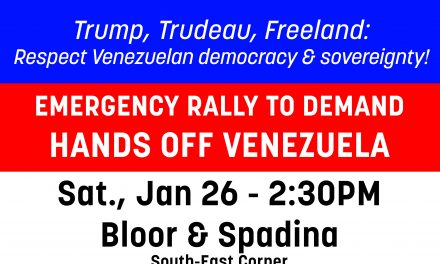 Emergency Rally: No US & Canada Supported Coup in Venezuela!